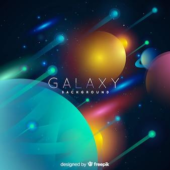 Galaxy-achtergrond met realistisch ontwerp