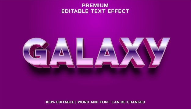 Galaxy - bewerkbare teksteffectstijl