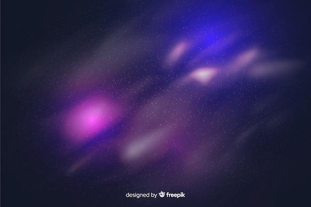 Galaxy deeltjes paarse achtergrond