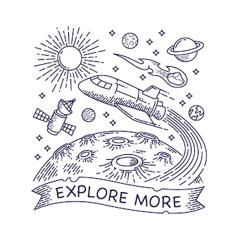 Galaxy lijn illustratie