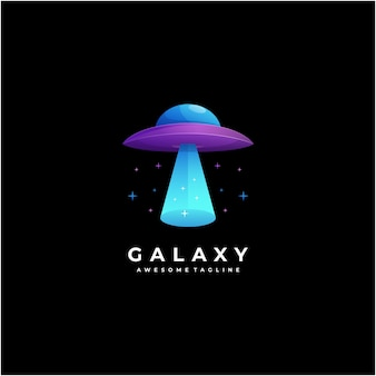 Galaxy logo ontwerp abstract modern kleurrijk