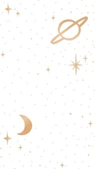 Galaxy mobiel behang schattige doodle-stijl