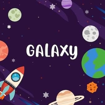Galaxy patroon ingesteld