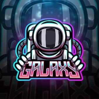 Galaxy sport mascotte logo ontwerp
