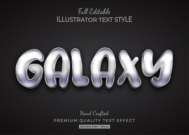 Galaxy text style effect premium