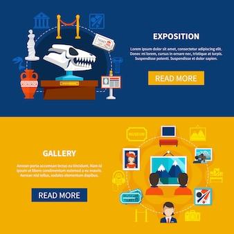 Galerij- en expositiebanners