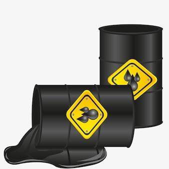 Gallons olie geïsoleerd op een witte achtergrond