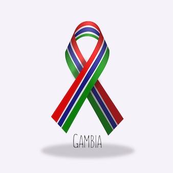 Gambia vlag lint ontwerp