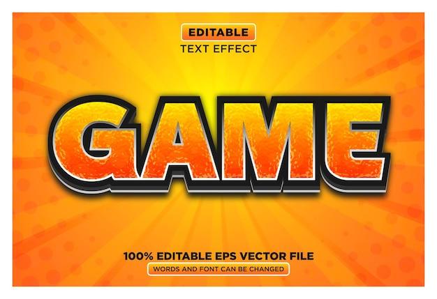 Game 3d bewerkbare teksteffect eps