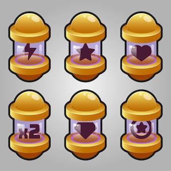 Game capsule boosters ingesteld