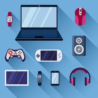 Game gadgets ingesteld
