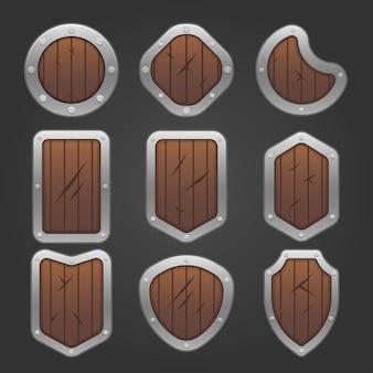 Game houten schilden set