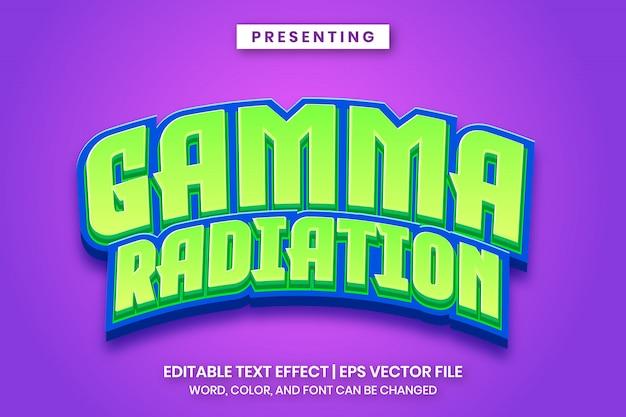 Game logo template - gamma straling bewerkbaar teksteffect