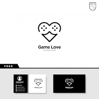 Game love logo-ontwerp