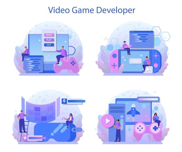 Game ontwikkeling concept set