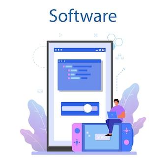 Game-ontwikkeling online service of platform