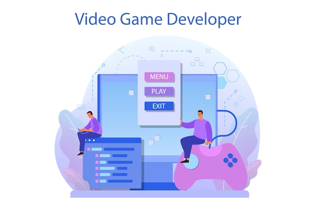 Game ontwikkelingsconcept.