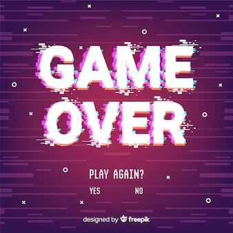 Game over glitch achtergrond