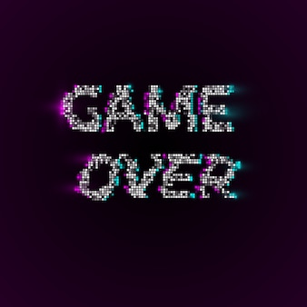 Game over in pixelart-stijl