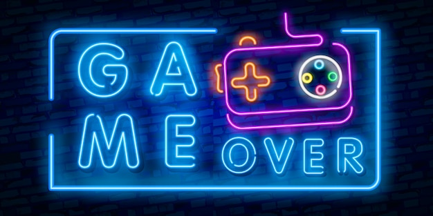 Game over neonbord