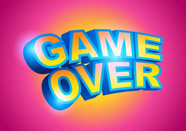 Game over-tekst