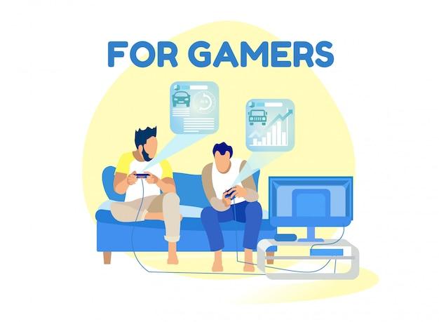 Game rating en hud interface voor gamers cartoon
