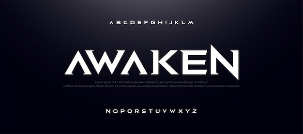 Game sport film alfabet lettertype. typografie modern