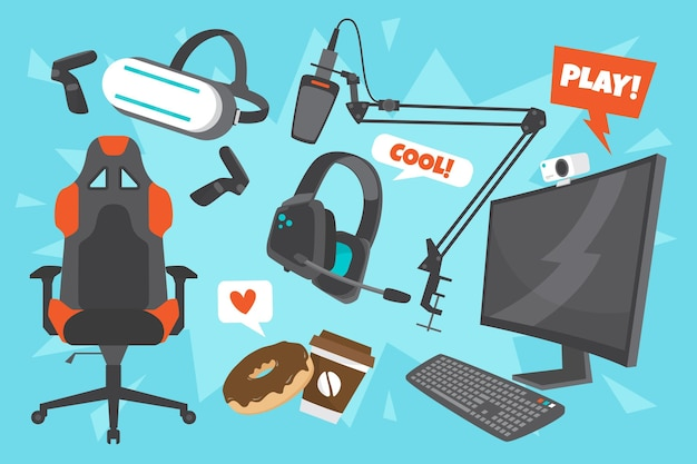 Game streamer element collectie