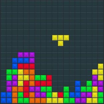 Game tetris vierkante sjabloon