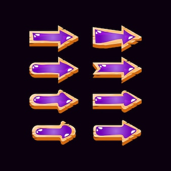 Game ui houten jelly arrow-collectie