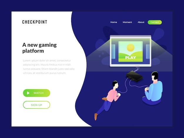Game web illustratie
