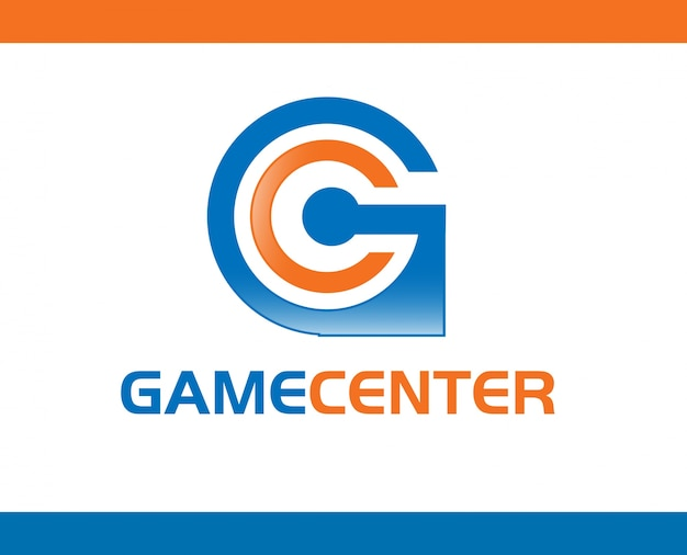 Gamecenter logo template design vector