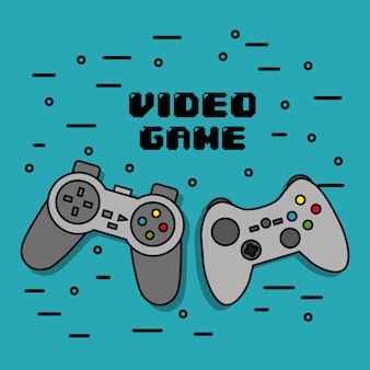 Gamepads iconen console voor videogame