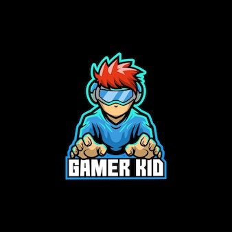 Gamer kid jonge game console video game boy