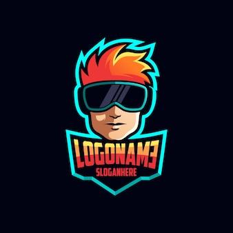 Gamer logo ontwerp