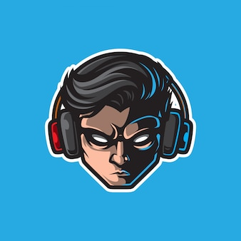 Gamer mascot logo, gaming badge