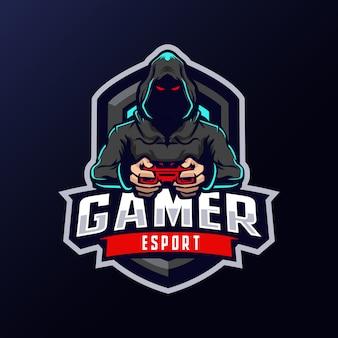 Gamer mascotte logo