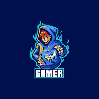Gamer play man cyber gaming-speler gamepad-controller