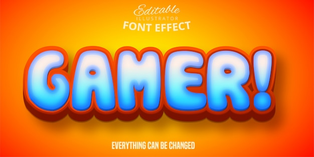 Gamer-tekst, 3d bewerkbaar lettertype-effect