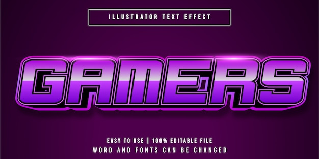 Gamers bewerkbaar e-sport teksteffect