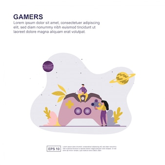 Gamers concept