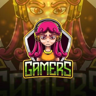 Gamers esport mascotte logo ontwerp
