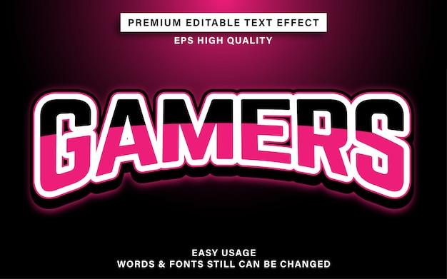 Gamers tekst effect