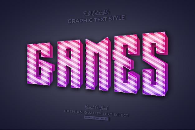 Games candy gradient bewerkbaar teksteffect lettertypestijl
