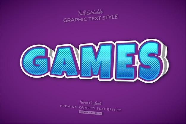 Games cartoon 3d bewerkbare teksteffect lettertypestijl
