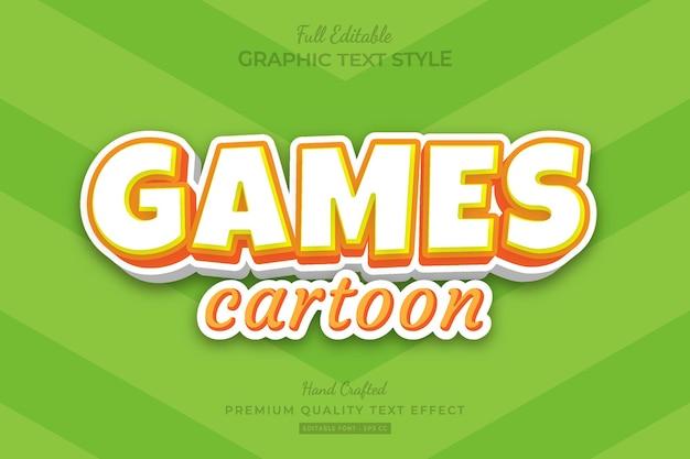 Games cartoon bewerkbare premium teksteffect lettertypestijl