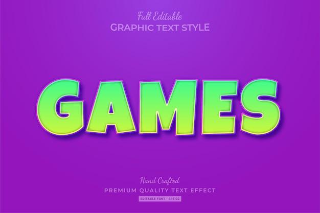Games cartoon bewerkbare teksteffect lettertypestijl