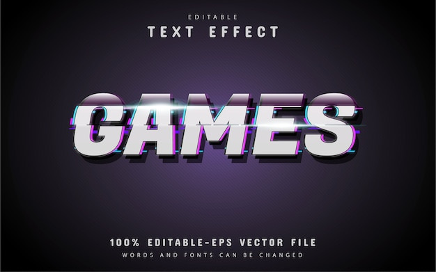Games teksteffect glitch-stijl