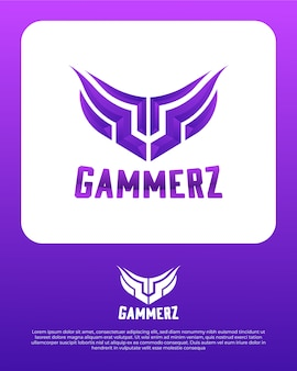 Gaming abstract logo ontwerpsjabloon