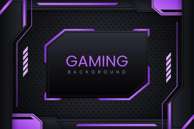 Gaming-achtergrond met donkerpaars verloop vectorontwerp
